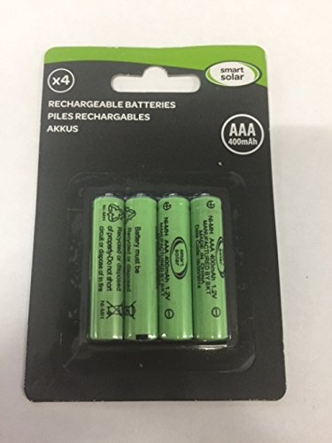 4 Stück wiederaufladbare Akkus, Ni-Mh, AAA, 600mAh, 1,2V, für Solar-Produkte  (Solar-leuchten-outdoor Akku)