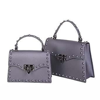 a26f1266ac Women s Bag Handbag Shoulder Bag Korean Version Jelly Material PU Handbags  Portable Liuding Bag Joker Buckle
