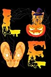 LE: Moon Flip Flop Pumpkin LOVE Yorkshire Terrier Halloween  Journal/Notebook Blank Lined Ruled 6x9 100 Pages