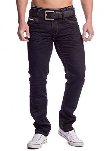 Uomo Jeans Piece ID1399 nero , Farben:nero;Größe-Jeans:W30