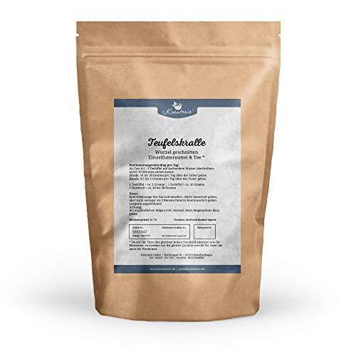 Krauterie Teufelskrallen-Wurzel geschnitten in sehr hochwertiger Qualität, frei von jeglichen Zusätzen, als Tee oder für Pferde und Hunde (Harpagophytum procumbens) - 500 g