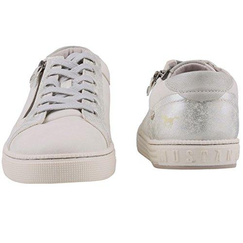 Mustang Damen Sneaker Weiß Weiß (Weiss 1)