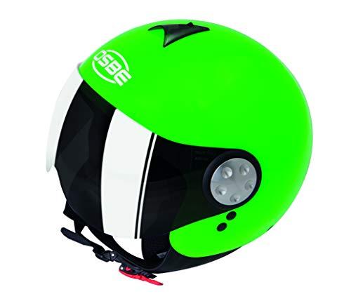 OSBE CASCO MOTO DJ AERO 2 SHINY GREEN FLUO XS