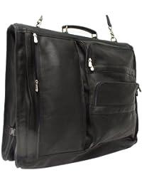 Piel Leather Executive Expandable Garment Bag, Black, One Size
