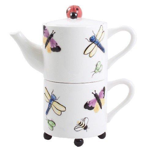 Butterfly Garden Artsy Tea For One Set by BigKitchen - Butterfly Garden Teller
