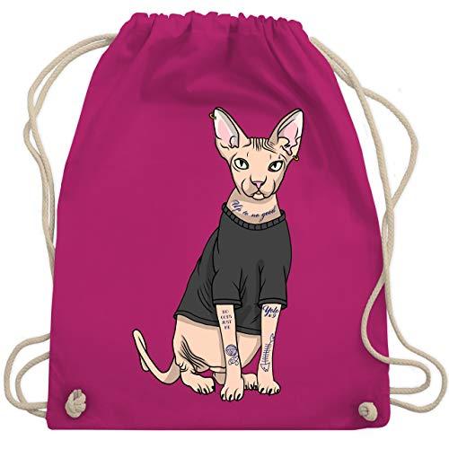 nx-Katze - Unisize - Fuchsia - WM110 - Turnbeutel & Gym Bag ()