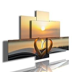 Idea Regalo - quadro mare emozioni 01 multilivello 3d quadri moderni mare libro mare fiori sole tramonto