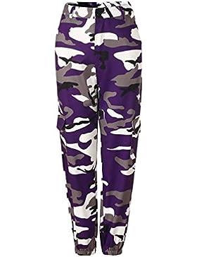 Mujer Pantalon Militar Casuales Anchas Streetwear Hip Hop Estilo Pantalones Harem Pantalones De Linterna Elegantes...