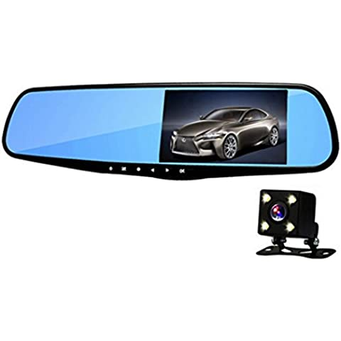 "Anstar H09 Car DVR Dash Cam Dual lens Rearview Mirror 5.0"" IPS Touch Screen FHD 1080P With Reverse Parking System Parking Video Recorder Dual Camera or Can As the Gift (Dual came add 32G)"