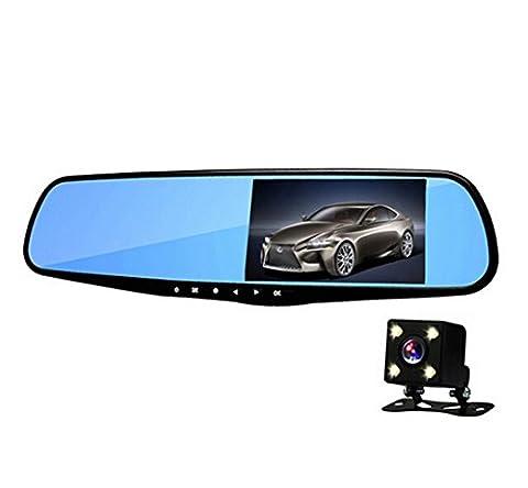 Anstar H09 Car DVR Dash Cam Dual lens Rearview Mirror 5.0