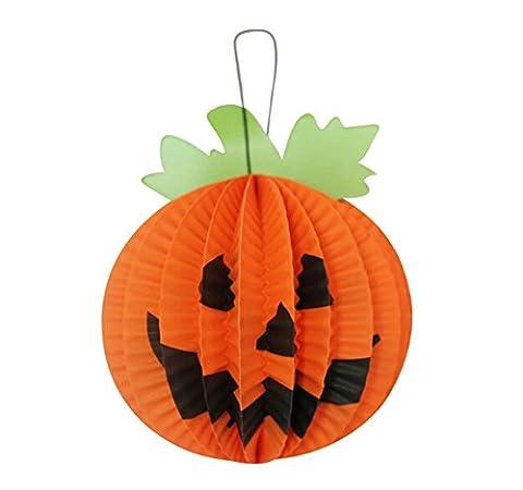 Set de 5 peti Halloween décoratif Hanging lanternes en papier(citrouille stéréo)