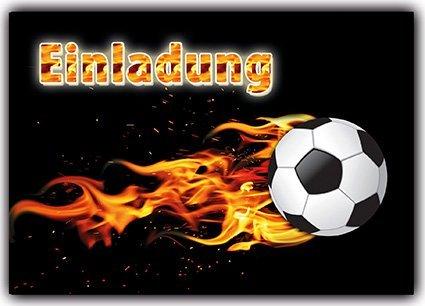 Kartenversand24 12-er Set Einladungskarten Fussball zum kindergeburtstag Fußball-party für Jungen und Mädchen