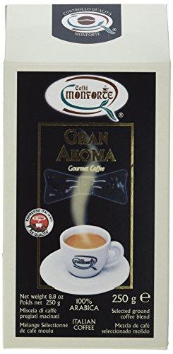Caffè Monforte Gran Aroma 100% Arabica Ground Coffee, 1er Pack 500g (2 x 250 g)