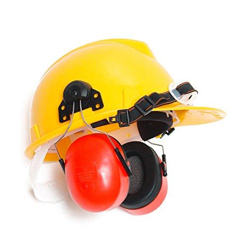 DEMA Schutzhelm / Bauhelm mit Gehörschutz (Schutzhelm Mit Kinnriemen)