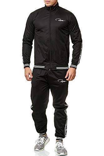 REDRUM Trainingsanzug Herren Trackinganzung Slim fit eng Trainingsanzüge Jogginganzug Sportanzug Freizeitanzug (L)