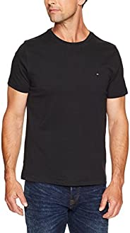 Tommy Hilfiger Men's Fashion Cotton Slim Crew neck Tee T-S