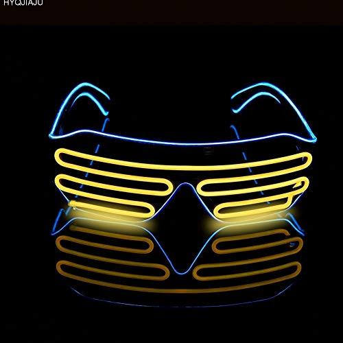 JYYC DJ Bright Brille EL Draht Mode Neon LED Licht Glow Rave Kostüm Party Blinds Gläser Fluoreszierende Tanz Performances Bar