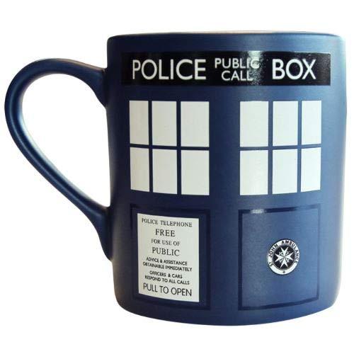 Café Dans Tardis Mate Doctor Who Finition À De Mug Motif Coffret Officiel Cadeau CWxBedro