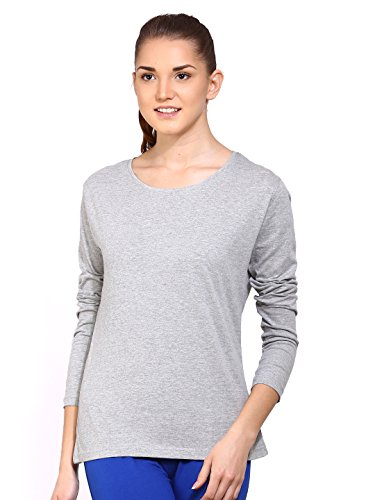 Ap'pulse Women's Long Sleeve Round Neck T Shirt (AP-WM-RN-LONGSLV-238-GMEL-S)  available at amazon for Rs.329