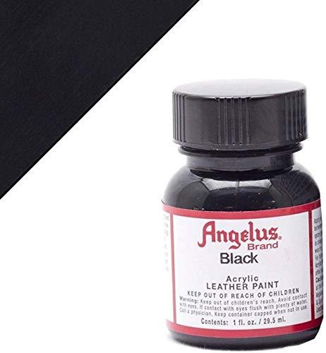 Angelus Acryl-Lederfarbe, 50-1948-A1, schwarz, 1 Oz Standard