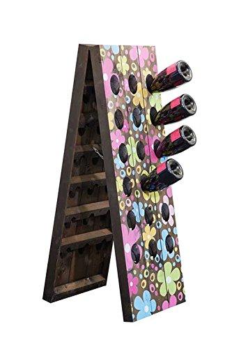 Digital gedruckte Pult für 36 Flaschen - Holz-flaschen-anzeige