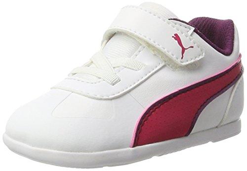 Puma Unisex-Kinder Modern Soleil SL V Inf Sneaker, Weiß (White-Love Potion), 22 EU