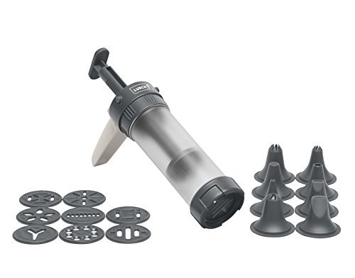 Lurch Gebäckpresse, Kunststoff, Iron Grey/Weiß 5 x 20 x 15 cm