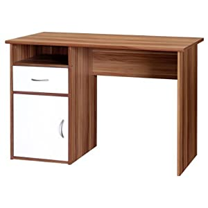 41KiUxsnq7L. SS300  - Hastings AW22145 Home Office Desk H758xW1110xD596mm - Color: French Walnut Effect