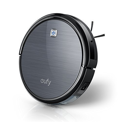 eufy robovac 11aspirador robot alta absorción Robot aspirador con filtro HEPA y caso Sensores para el pelo de animal y alérgicos, para suelos duros y alfombras de plano (Negro)