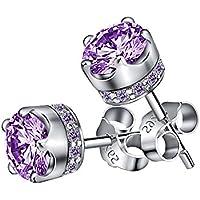 lanmpu 925Sterling argento Swarovski Elements Sparkling Diamante Orecchini per le