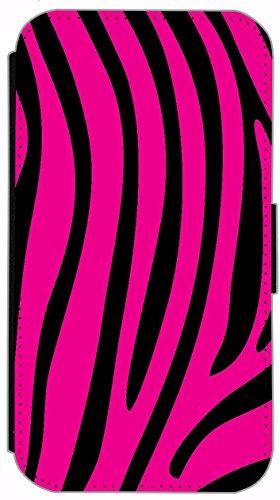 Flip Cover für Apple iPhone 6 / 6S (4,7 Zoll) Design 322 Zebra Streifen Tiger Muster Blau Schwarz Hülle aus Kunst-Leder Handytasche Etui Schutzhülle Case Wallet Buchflip mit Bild (322) 332