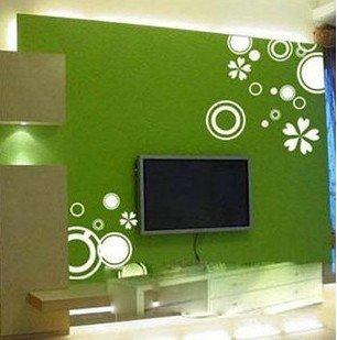 Vinilo decorativo pegatina pared, cristal, puerta (Varios colores a elegir)- flores y circulos