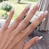 LIARTY Künstliche Nägel 12 verschiedene Größen Milky Coffin Ballerina...