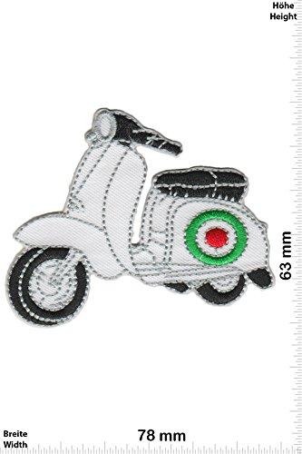Patch - Vespa Roller - Weiss - Motorrad - Motorrad - Vespa - Aufnäher - zum aufbügeln - Iron On Roller-patch