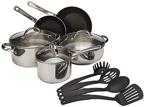 Farberware Buena Cocina Stainless Steel Cookware Set, 12-Piece - Farberware 12