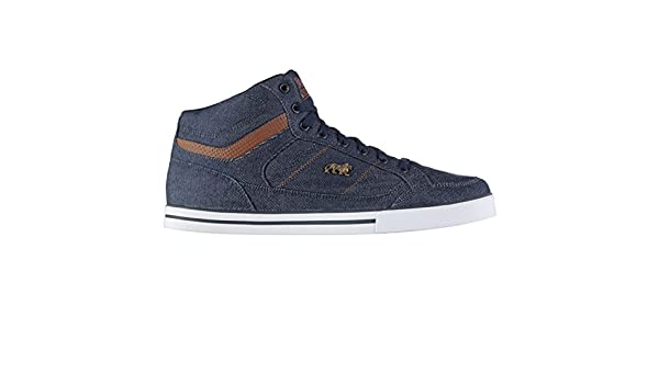 ef3636d08a0643 Lonsdale Mens High Top Canons Shoes Lace Up Padded Ankle Collar Tongue  Pattern Denim UK 11 (45)  Amazon.co.uk  Shoes   Bags