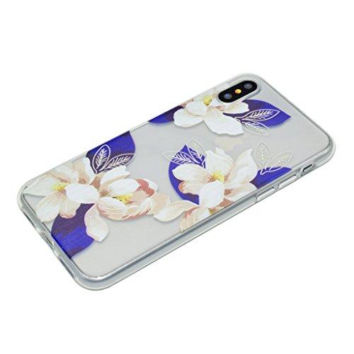 Custodia per iPhone X Cover , YIGA amare uccelli Trasparente Silicone Morbido TPU Shell Caso Protezione Case per Apple iPhone X (5,8 pollici) XX33