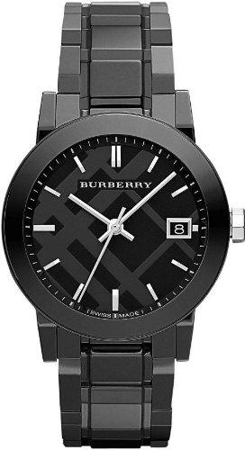 Burberry bu9181–Montre pour hommes, bracelet en céramique couleur noir