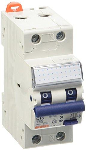 Gewiss GW94007–Zubehör Elektromesser (230V, 16A, 6000A, Blau, Weiß)