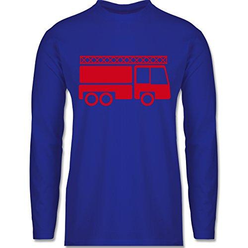 Feuerwehr - Feuerwehrauto - Longsleeve / langärmeliges T-Shirt für Herren Royalblau