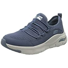 Skechers ARCH FIT LUCKY THOUGHTS, Women's Low-Top Trainers, Blue (Navy Mesh/Trim Nvy), 8 UK (41 EU)