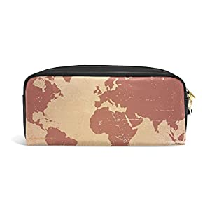 jstel mapa del mundo escuela lápiz bolsa para bebés de los niños Niños Adolescentes soporte para bolígrafos de maquillaje bolsa mujer duradera gran capacidad bolsa de papelería