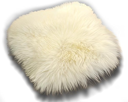 Lammfell Schaffell weiß Sitzkissen ca. 40x40 cm Öko Stuhlauflage