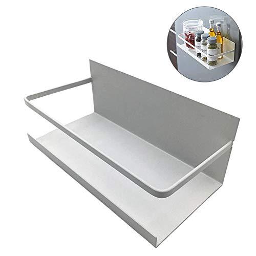 KOBWA Punch-Free Wand Lagerregal Magnetischer Speicher Organisator Regal Gewürzglasgestell für Hauptküche Wohnzimmer Badezimmer Absorption auf Kühlräumen und Metalloberflächen -