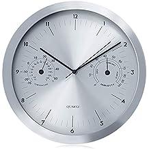 Reloj de pared con termómetro e higrómetro 14