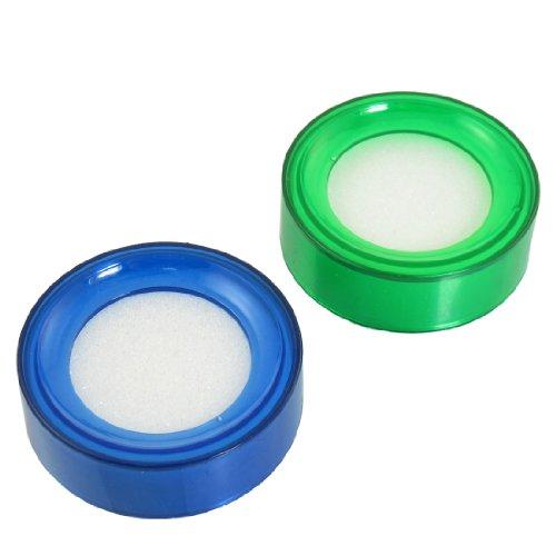 Blau Grün Fingertip Befeuchter für Geld Zählen 2Pcs