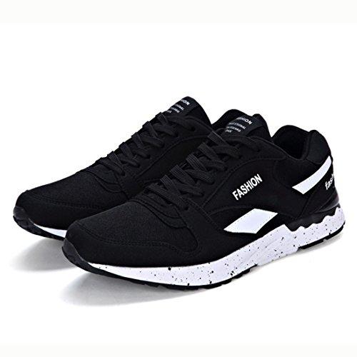 Men's Zapatillas Outdoor Athletic Running Shoes Black