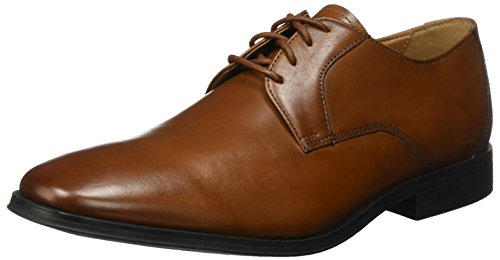 Clarks Herren Gilman Lace Derbys Braun (Dark Tan Leather) 45 EU