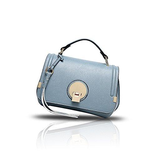 Sunas Borsa superiore della borsa del messaggero della borsa della copertura-tipo della borsa della borsa delle donne di estate 2017 blu