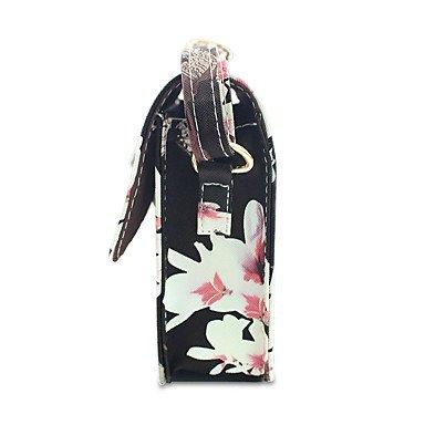 YJIUX Frauen Schultertasche PU alle Jahreszeiten Hochzeit Event / Party Casual offizielles Büro & Karriere Sling Bag Pattern/Drucken magnetische Schwarz Weiß White